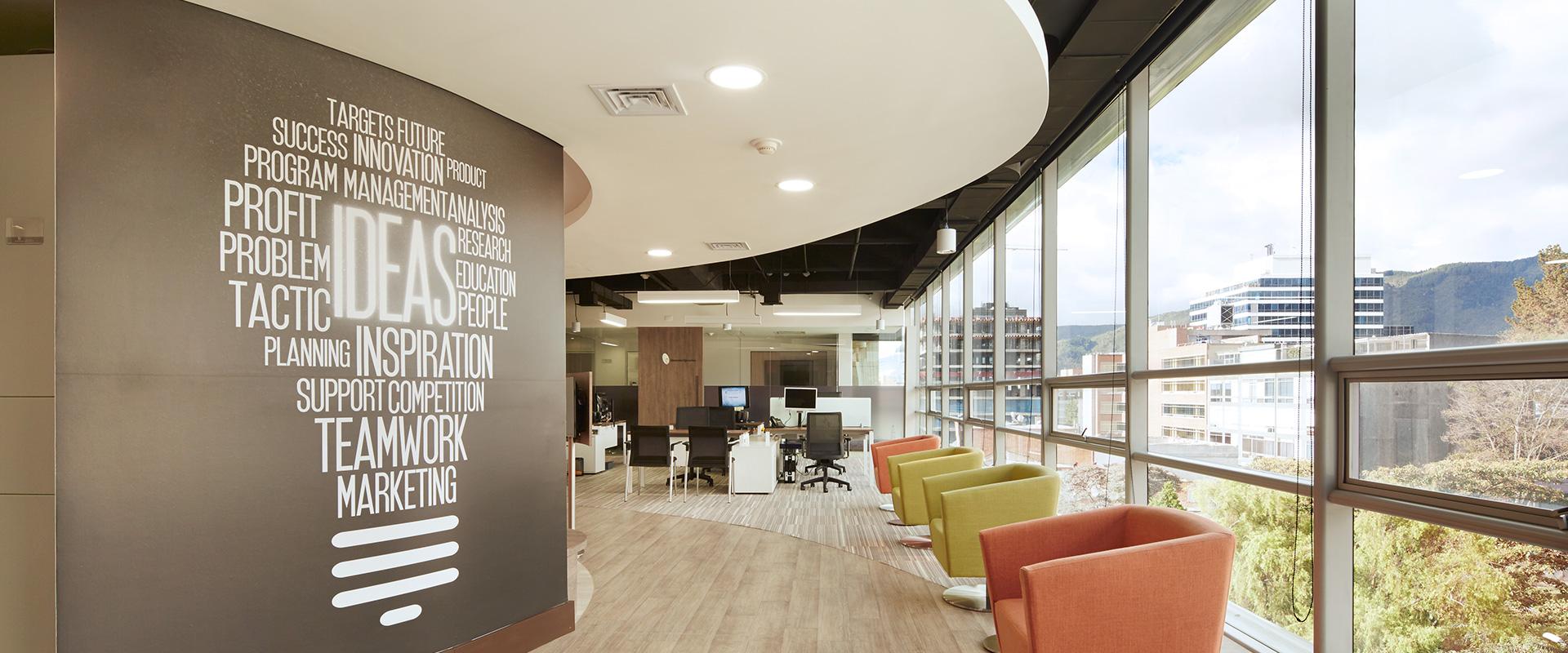 Diseño de interiores y remodelación oficina Acipent, Bogotá ...