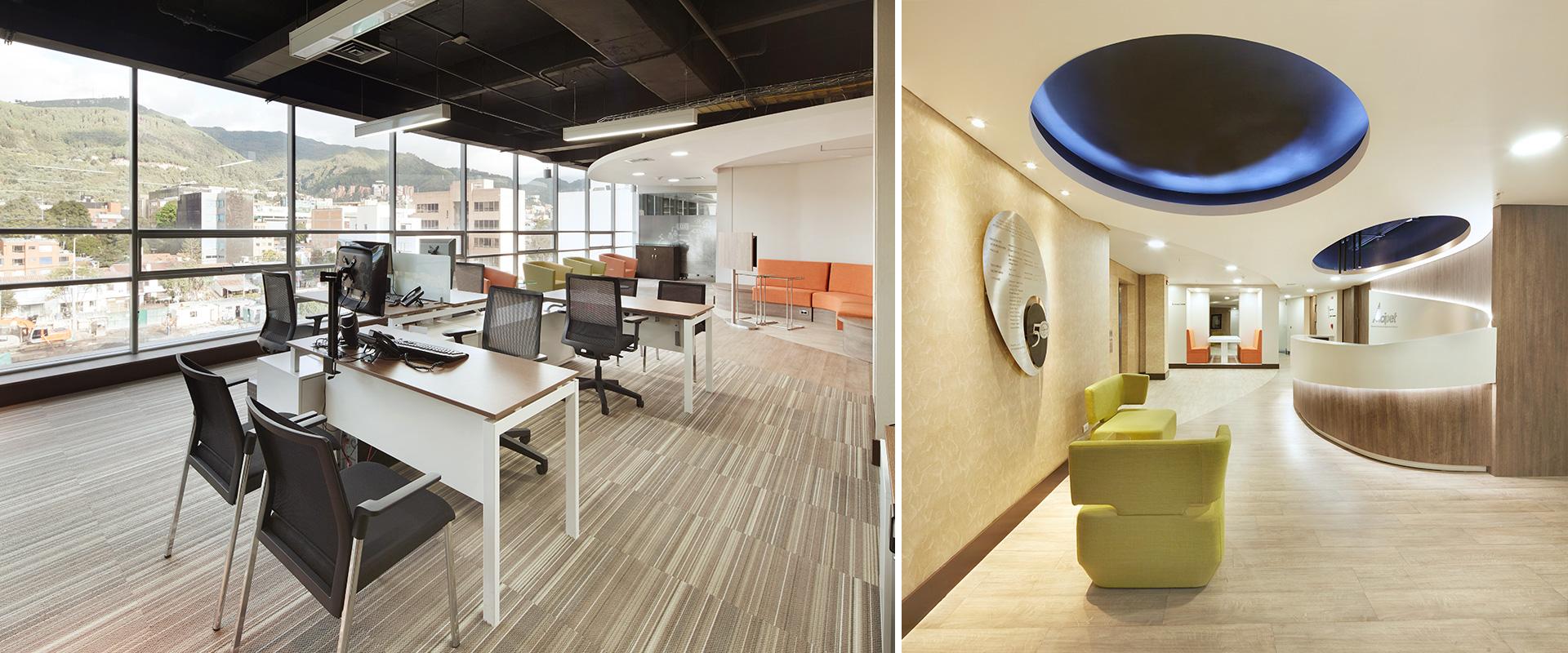 Dise o de interiores y remodelaci n oficina acipent for Diseno oficinas modernas bogota